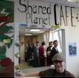 Sharing a moment at Shared Planet, Aberdeen, Scotland